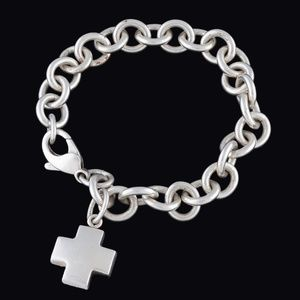 Tiffany & Co. Sterling Silver Cross Charm Bracelet